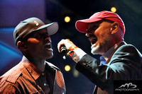 Javier Colon with Terry O'Quinn