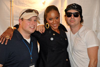 B93.7's Chase Murphy with Shontelle and Kevin Rudolf